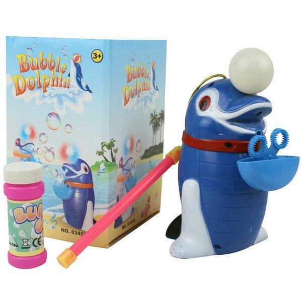 海豚造型電動泡泡機 NO.0345B 座式吹泡泡機(可手提/附電池)/一個入{促150}~聲光攜帶式自動吹泡泡機