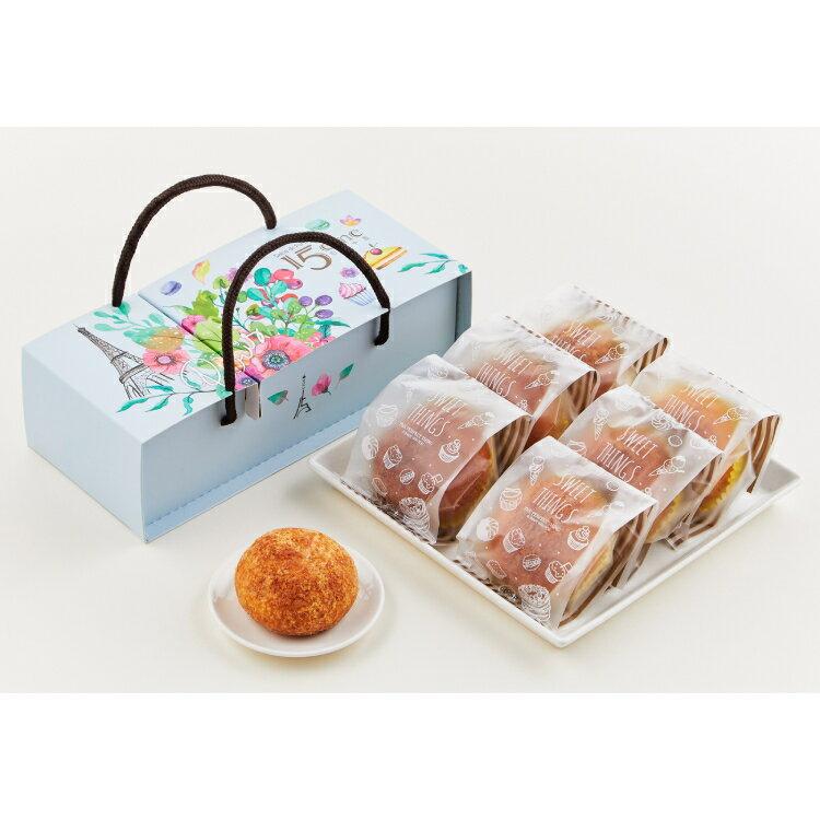 大成食品|巴黎十五金沙泡芙(55g/入,6入/盒) 母親節蛋糕 甜點 伴手禮 法式