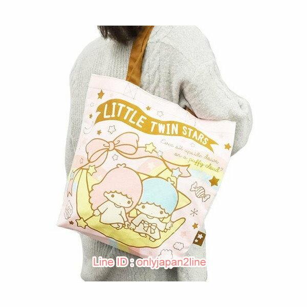 【真愛日本】17022200009帆布手提袋-TS彩虹  三麗鷗家族 Kikilala 雙子星  包包 手提袋 手拿包