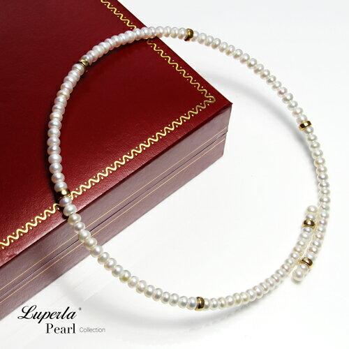 大東山珠寶 浪漫貴族 頸圈項鍊 歐美古典編織珠寶 14K天然珍珠項鍊 4