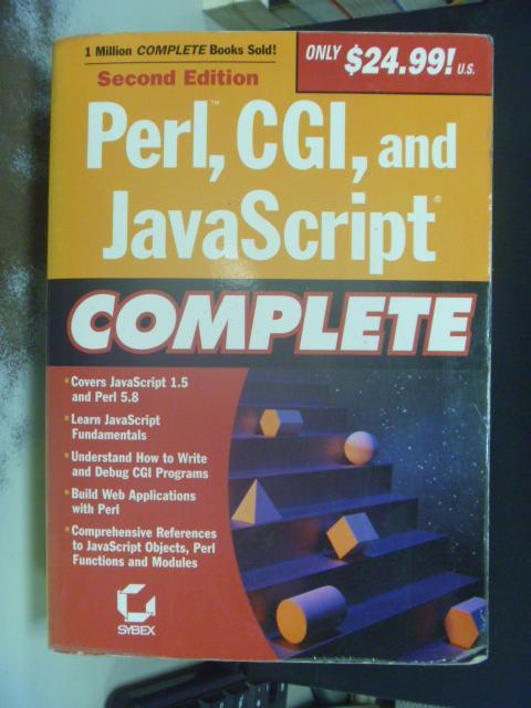 【書寶二手書T7/電腦_KEX】Perl, CGI, and JavaScript Complete, 2/e