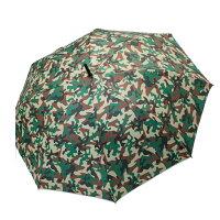 下雨天推薦雨靴/雨傘/雨衣推薦【iumbrella】玩轉普普防風直骨傘-綠色迷彩