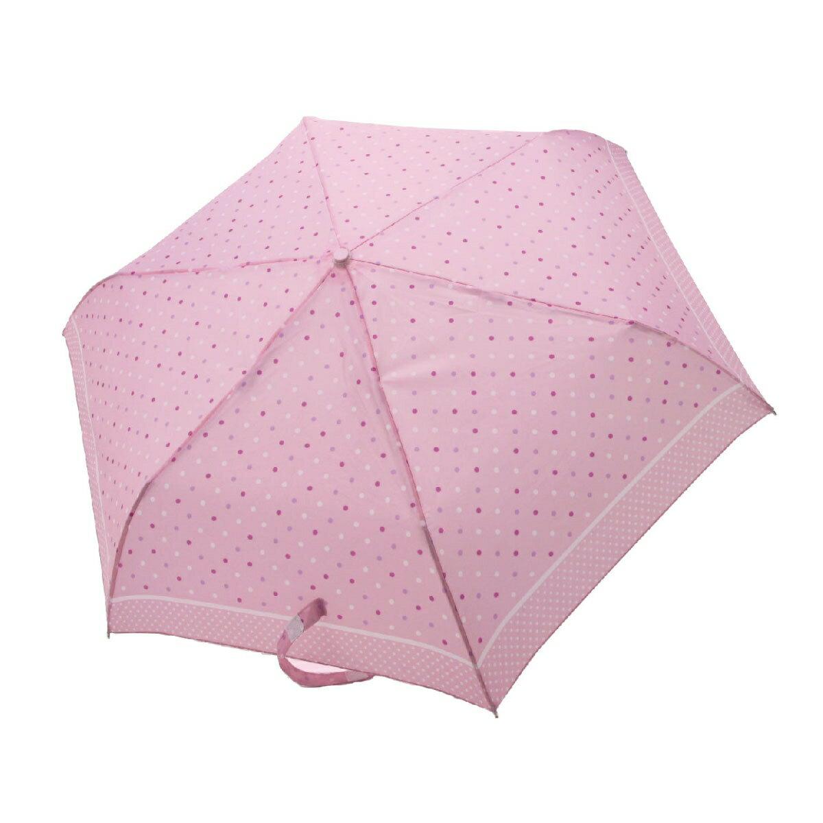 【iumbrella】晴雨兩用傘雨傘 折傘 圓點小彎勾-粉紅點點