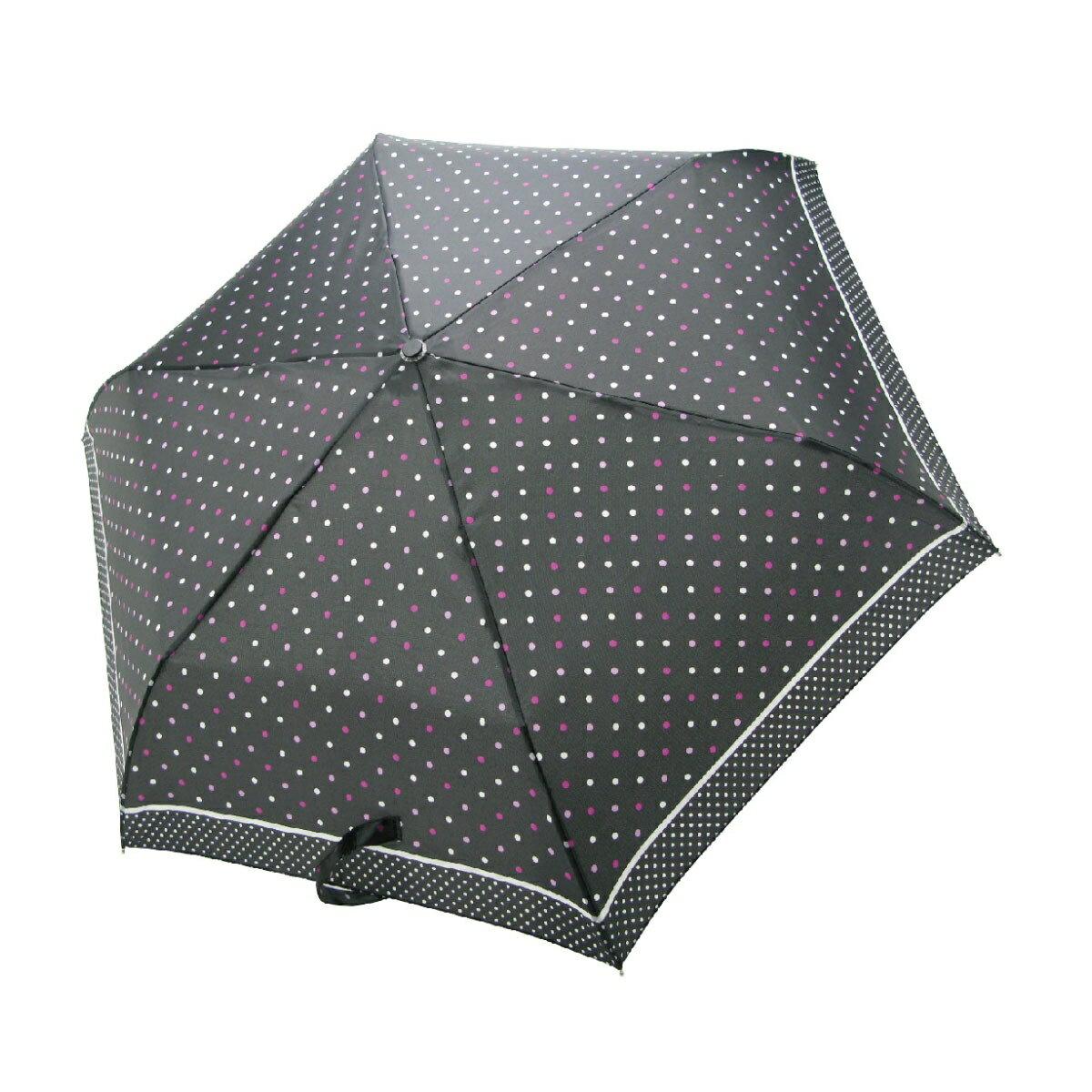 【iumbrella】晴雨兩用傘雨傘 折傘 圓點小彎勾-黑色巧克力