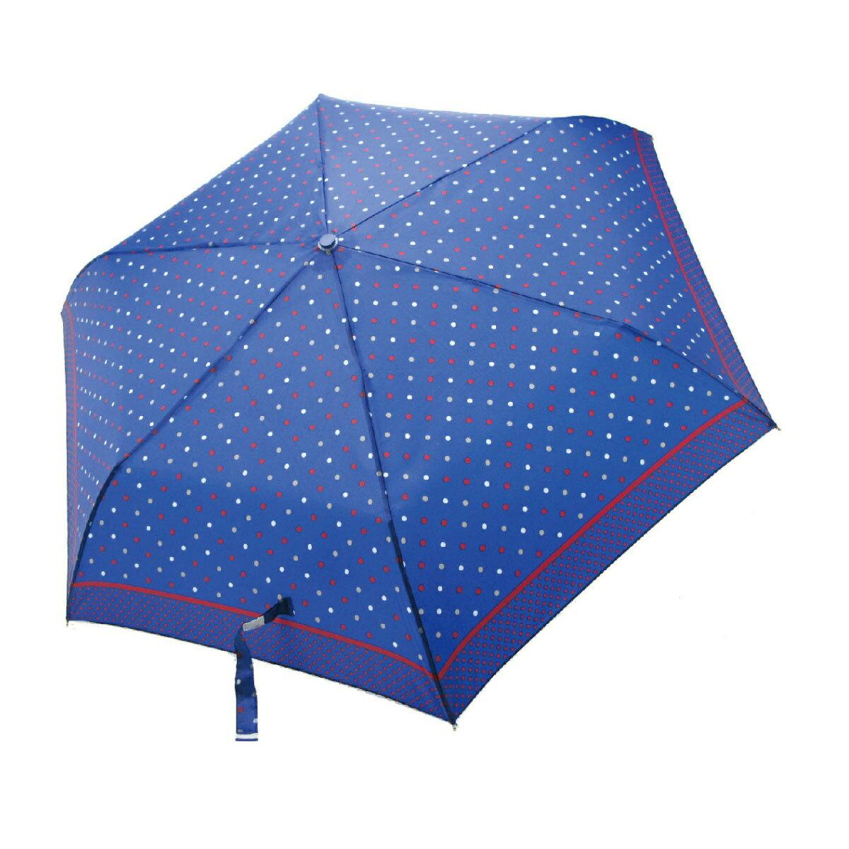 【iumbrella】晴雨兩用傘雨傘 折傘 圓點小彎勾-深藍點點