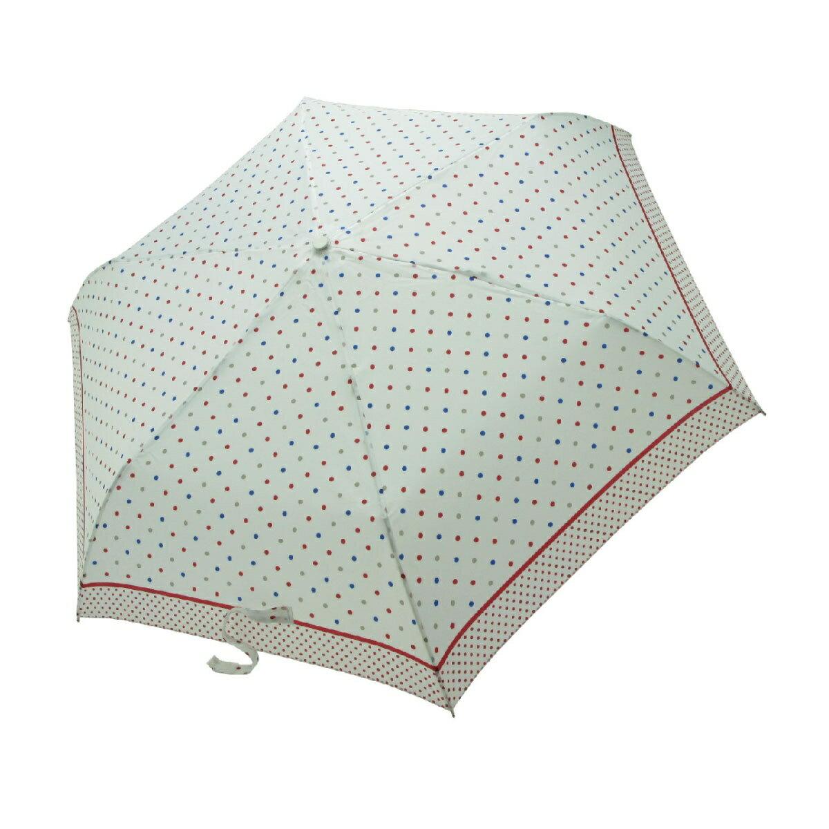 【iumbrella】晴雨兩用傘雨傘 折傘 圓點小彎勾-白色點點