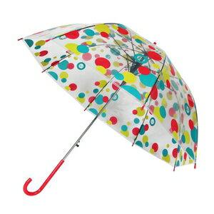 【iumbrella】彩色印花繽紛透明便利傘 超防風-宮廷傘(共三花色)隨機出貨
