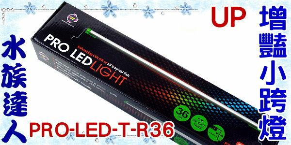 【水族達人】雅柏UP《增豔小跨燈(綠邊跨式)36 PRO-LED-T-R36》 LED/適合36~45cm魚缸用