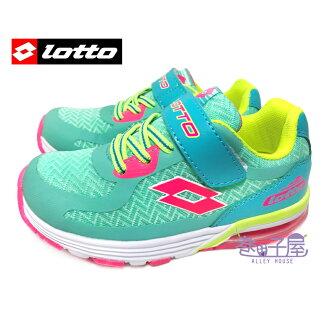 【巷子屋】義大利第一品牌-LOTTO樂得 女童動能輕量超Q彈避震氣墊運動慢跑鞋 [2865] 湖水綠 超值價$498