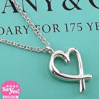 【奢華時尚】TIFFANY Loving Heart 925純銀墜飾項鍊(九成新) #20919