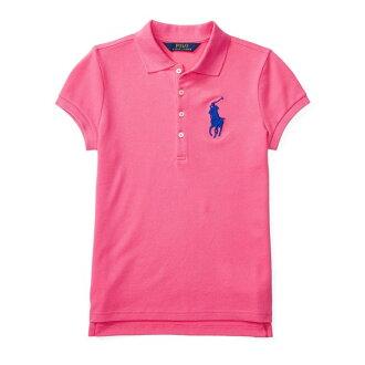美國百分百【全新真品】Ralph Lauren Polo衫 RL 短袖 素面 網眼 大馬 女 粉紅 XS S號 美國青年版 H869