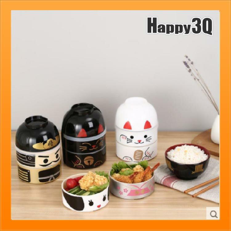 日本製便當盒日製飯盒多層餐盒和風便當盒個性傳統兩層-將/姬/黑貓/白貓【AAA3750】