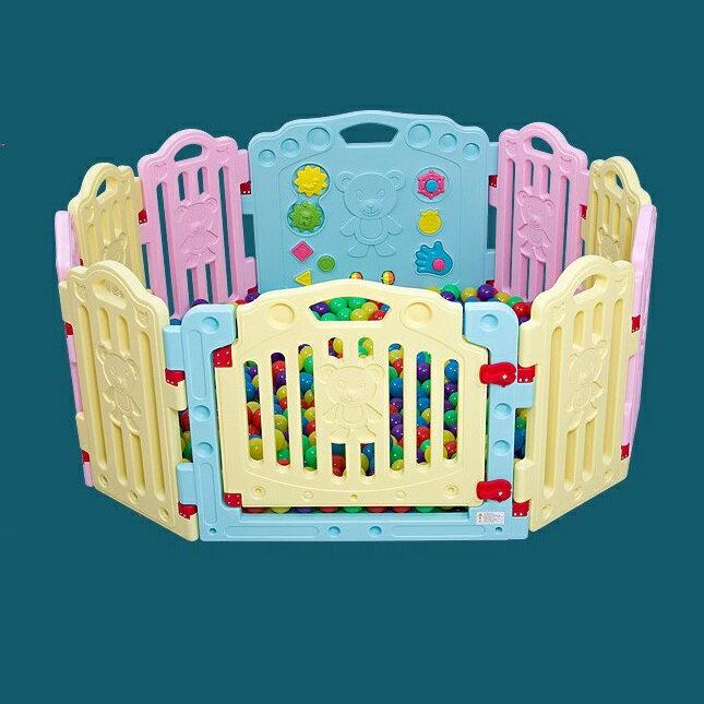 麻麻乖寶貝 加高66CM 遊戲圍欄 安全圍欄 嬰兒護欄 幼兒圍欄 門欄 8小+2套裝
