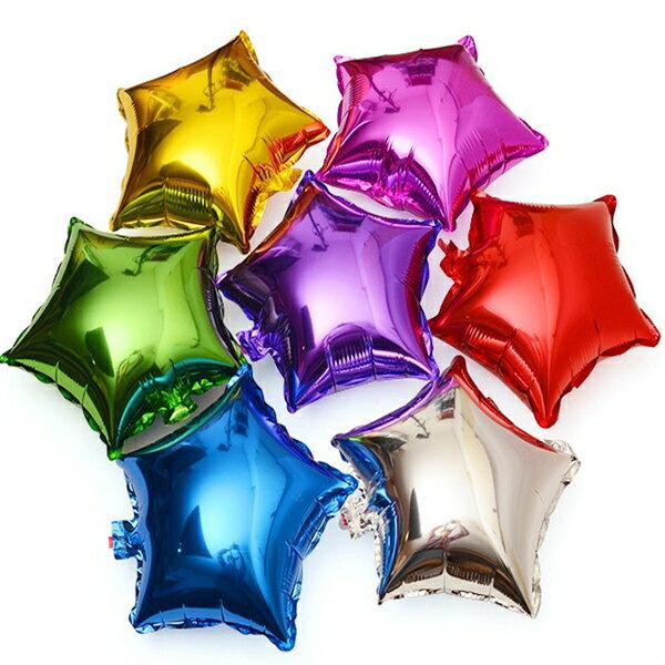 18吋 星星 五芒星 五角星款 (45CM款) 鋁箔氣球 空飄 任意搭配 生日派對佈置【塔克】