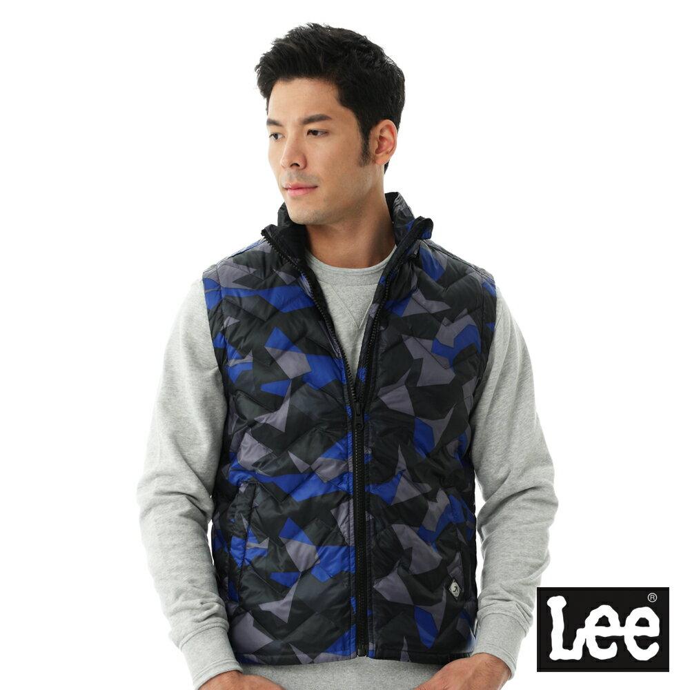 Lee  HEAT迷彩印花舖棉外套-男款-藍 6