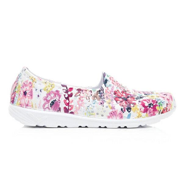 《2019新款》Shoestw【92U1SA07PK】PONY TROPIC 水鞋 軟Q 防水 懶人鞋 洞洞鞋 五彩花卉白 女生 1