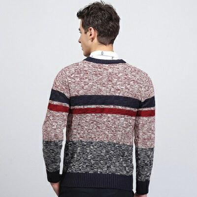 針織毛衣長袖針織衫-英倫時尚簡約條紋男上衣2色73ik96【獨家進口】【米蘭精品】
