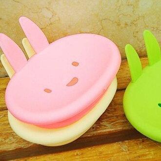 《愛鴨咖啡》卡哇伊小兔皂盒 MOMO兔肥皂盒 香皂盒 洗衣皂盒