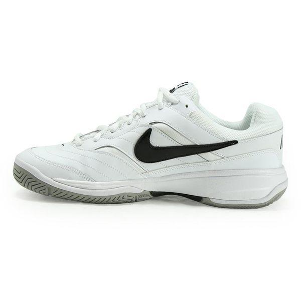 NIKE COURT LITE 男鞋 網球鞋 白黑 皮革 【運動世界】 845021-100
