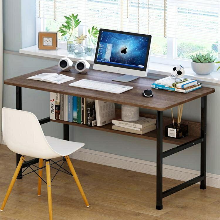 簡約電腦台式桌經濟型現代學生學習寫字桌書桌家用臥室簡易辦公桌 年貨大集Sale搶殺價