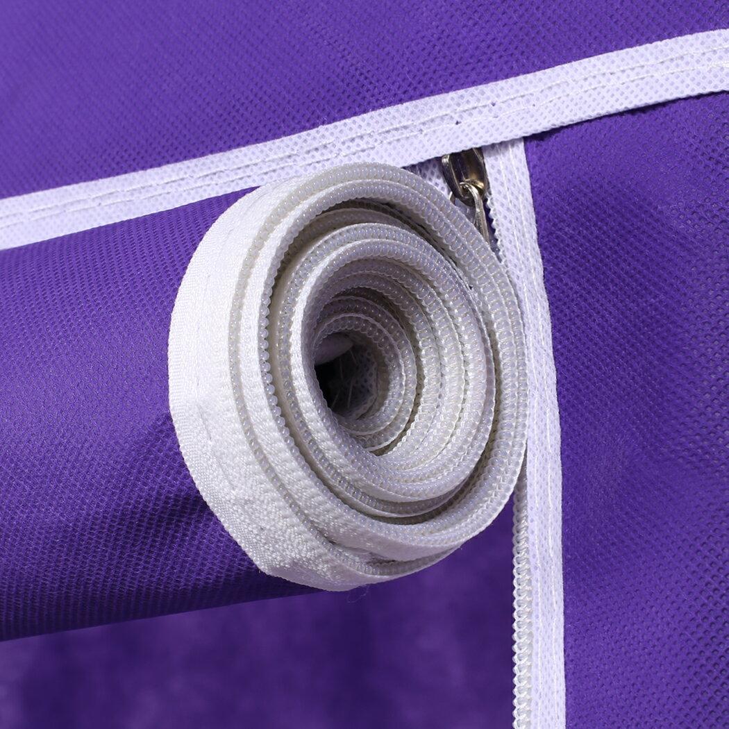 Home DIY Portable Closet Wardrobe Clothes Rack With Hanger 4