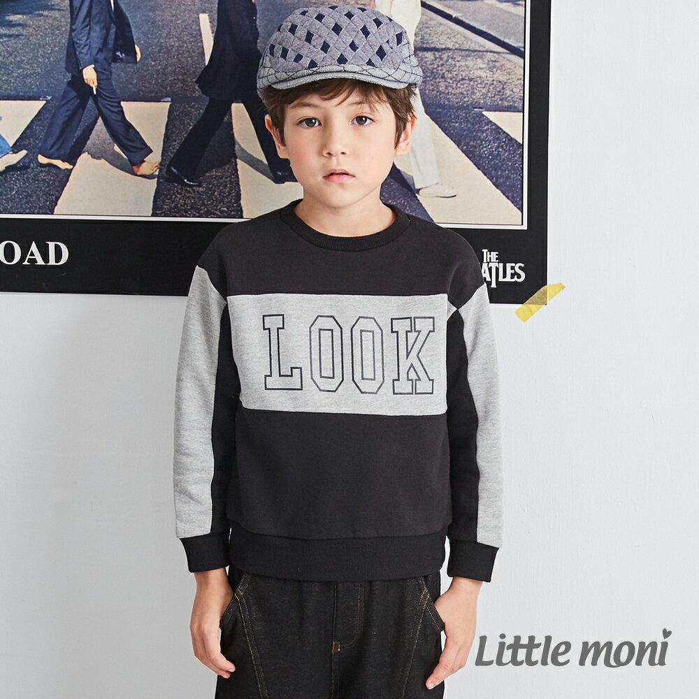 Little moni 圓領LOOK拼接上衣-黑色(好窩生活節) 1