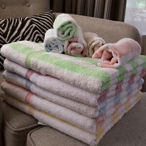 純棉線條浴巾 台灣製造 來福品牌 69*137公分 490公克 中薄款 吸水透氣