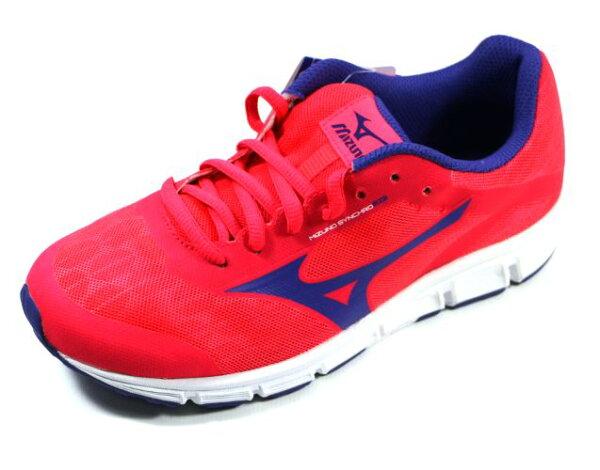 [陽光樂活]MIZUNO美津濃SYNCHROJr.(大童)運動休閒鞋款-K1GC173266橘紅藍