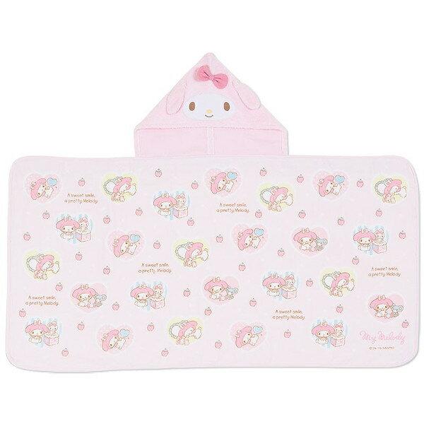 【真愛日本】15091600033嬰幼兒毛毯被附帽-草莓  三麗鷗家族 Melody 美樂蒂   毛毯  被子  嬰幼兒用品  正品