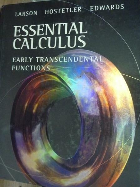 ~書寶 書T2/大學理工醫_PDN~Essential Calculus_Larson e