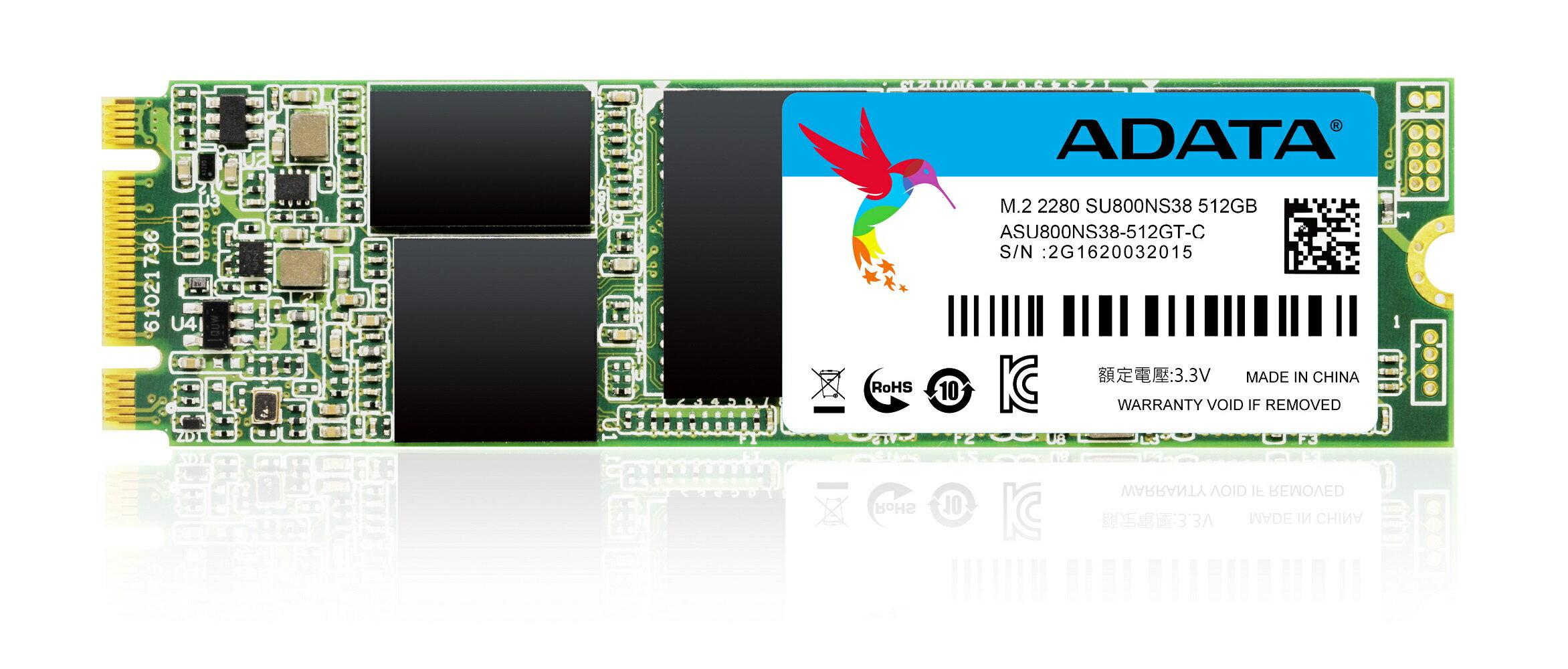ADATA Ultimate SU800 3D NAND M.2 2280 Internal SSD 512GB (ASU800NS38-512GT-C) 0