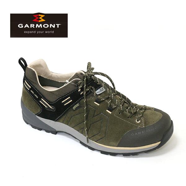 GARMONT男款GoreTex低筒郊山健走鞋SantiagoLowGTX481241211橄欖綠城市綠洲(登山鞋、GORETEX、防水、黃金大底)