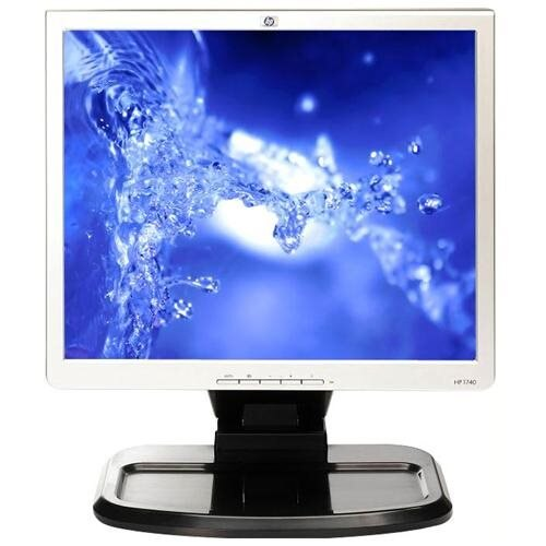 "Refurbished HP 1740 17"" LCD Monitor - 5:4 - Refurbished - 1280 x 1024 - 500:1 - DVI - VGA - Black, Silver 0"