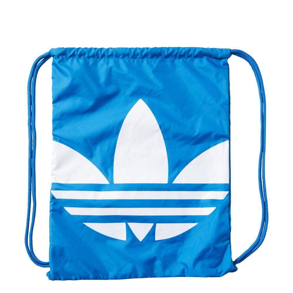 ADIDAS Originals Gymsack Trefoil 背包 束口袋 手提 基本款 藍 【運動世界】AJ8987【1月會員神券★消費滿1000結帳輸入序號New2018-100↘折100 |..