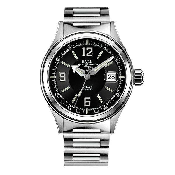 大高雄鐘錶城:BALL波爾錶NM2088C-S2J-BKWHFireman紳士大三針腕錶黑面40mm