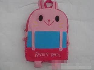 =優生活=韓版粉紅小兔子小書包 後背包 兒童背包