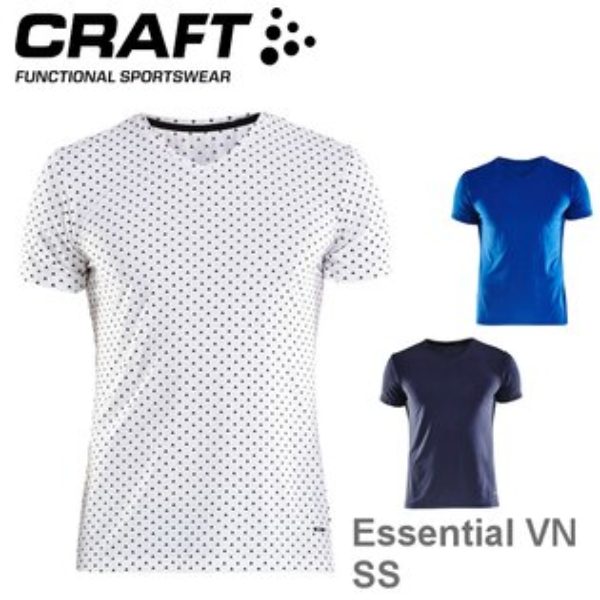 【速捷戶外】瑞典CRAFT1906053男輕量涼感短V領排汗衣EssentialVNSS,跑步,路跑,登山,排汗T