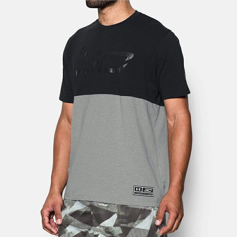 《UA出清69折》Shoestw【1290571-001】UNDER ARMOUR UA服飾 短袖 運動上衣 能量棉 CURRY CS30 黑/灰 男生