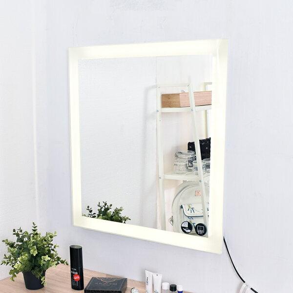 凱堡外銷款環狀LED燈鏡防霧面化妝鏡大面鏡【H28050】
