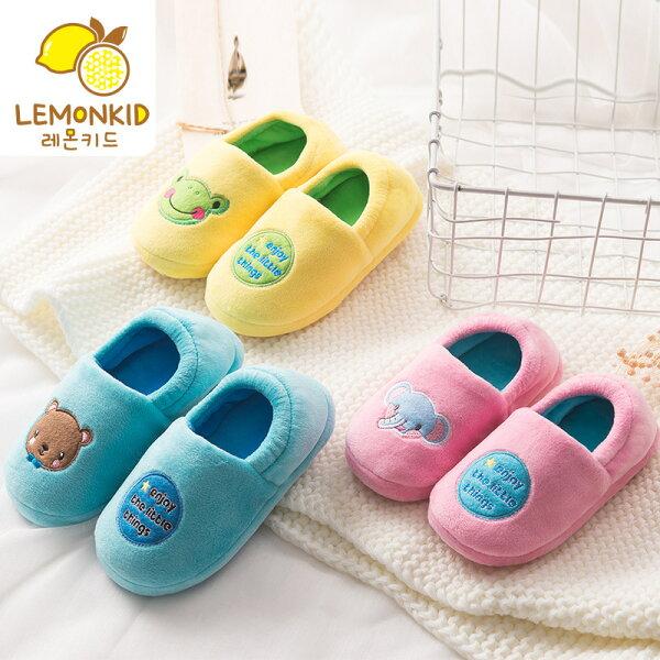 Lemonkid:Lemonkid◆冬季保暖兒童動物樂園包鞋室內拖鞋