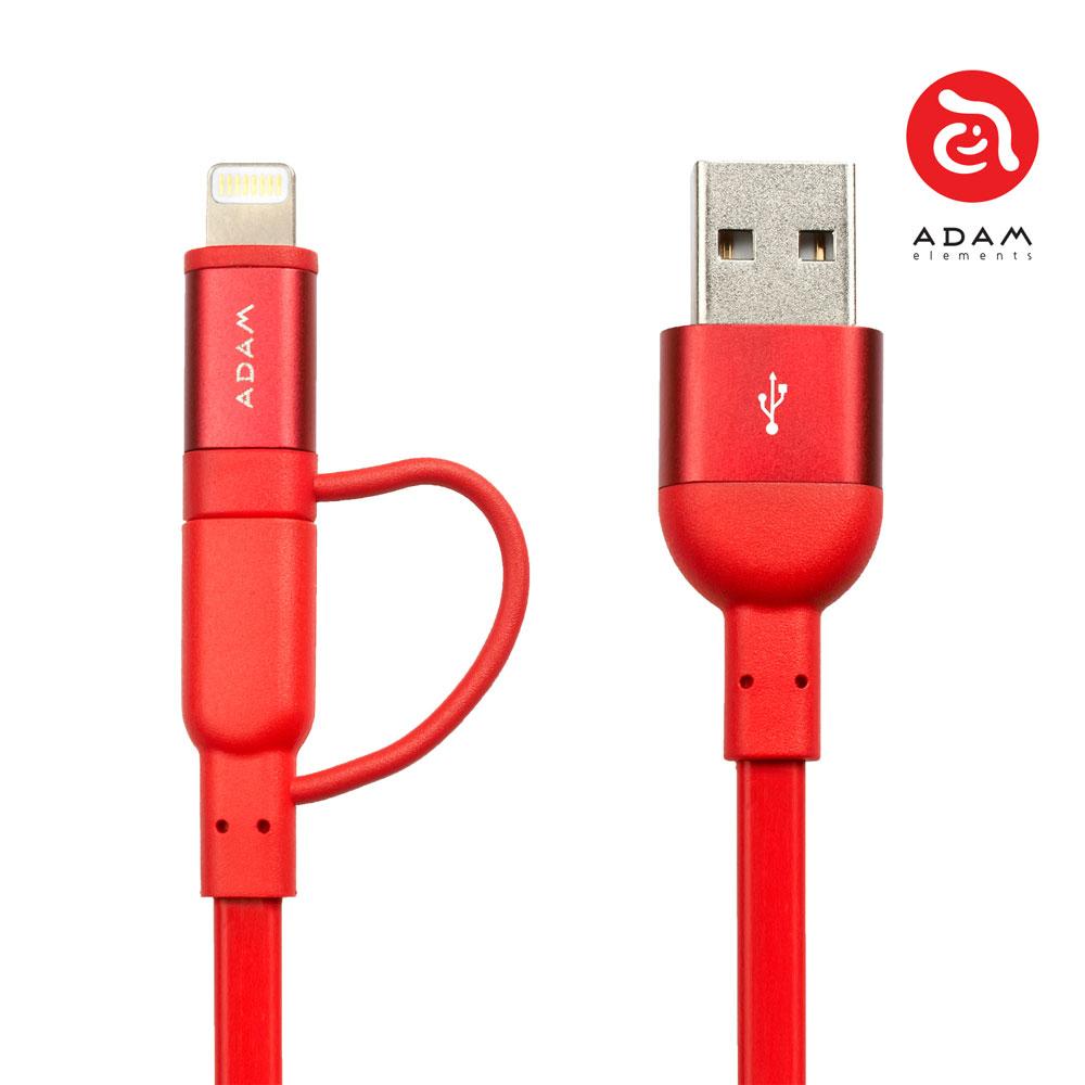 PeAk Lightning Cable Duo 120F 雙用金屬扁式傳輸線 正反插 蘋果/APPLE/手機/3C/iPhone/充電線/安卓/ 3