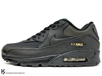2017 NSW 經典復刻鞋款 人氣商品 NIKE AIR MAX 90 PREMIUM PRM 全黑 黑金 皮革 氣墊 慢跑鞋 AM (700155-011) 1117
