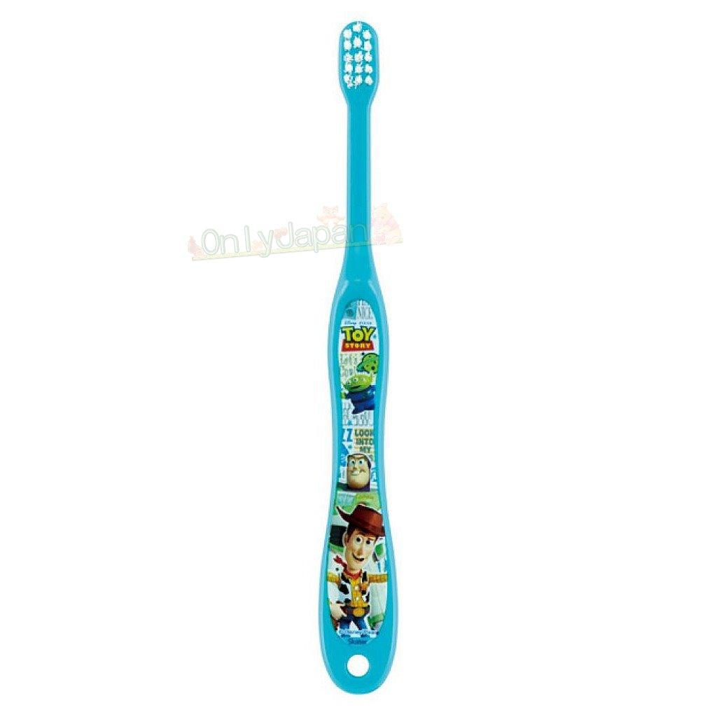 【真愛日本】4973307452673 幼兒牙刷0~3歲-玩總藍綠 玩具總動員 toys 迪士尼 幼兒牙刷 牙刷 盥洗用品 0