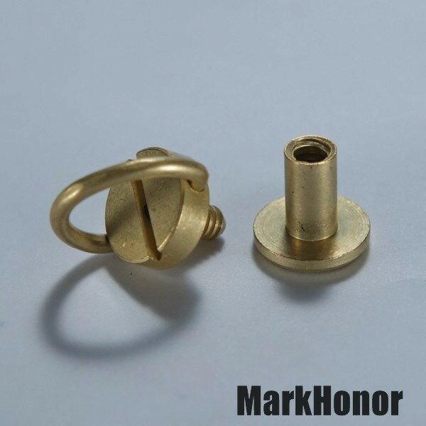 皮帶 皮帶頭 連接 對接手轉螺釘 黃銅色  -Mark Honor