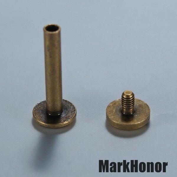 鑰匙圈 汽車鑰匙包 對接螺釘 古銅色  -Mark Honor