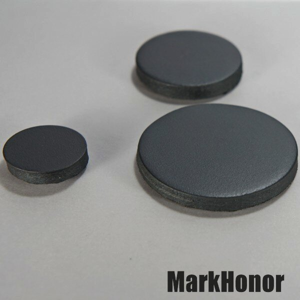 磁鐵 真皮皮革 黑 圓直徑2公分-Mark Honor