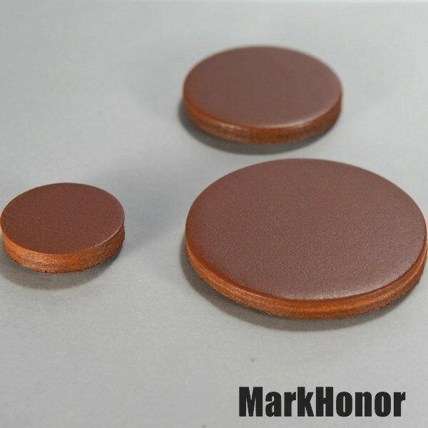磁鐵 真皮皮革 咖啡 圓直徑3公分-Mark Honor