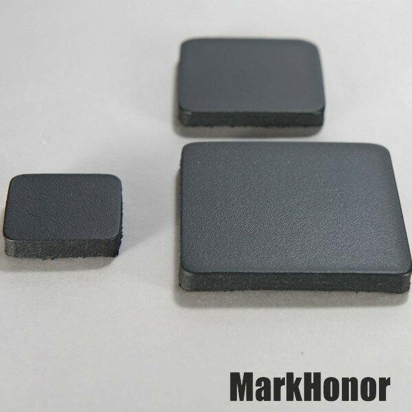 磁鐵 真皮皮革 黑 方邊長2公分-Mark Honor