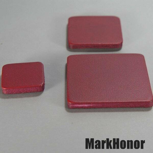 徽耀國際 Mark Honor:磁鐵真皮皮革酒紅方邊長4公分-MarkHonor