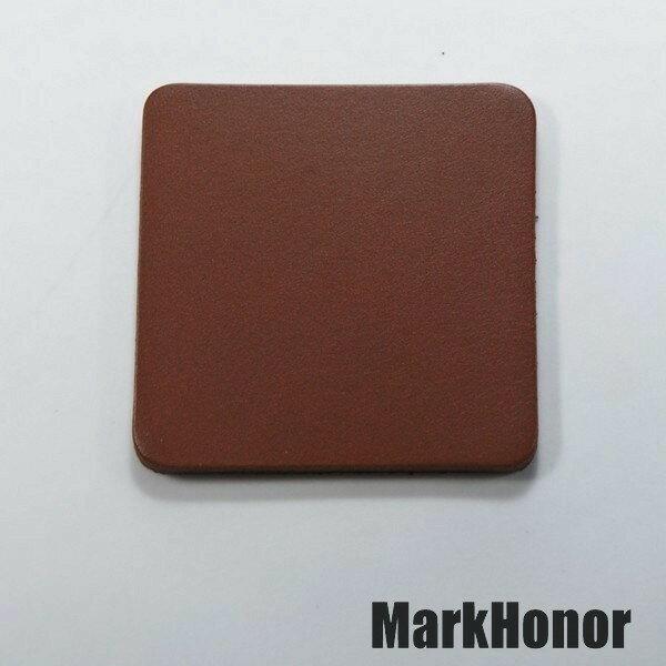 皮革牛皮皮製真皮杯墊皮杯墊(咖啡)方邊長6公分-Mark Honor
